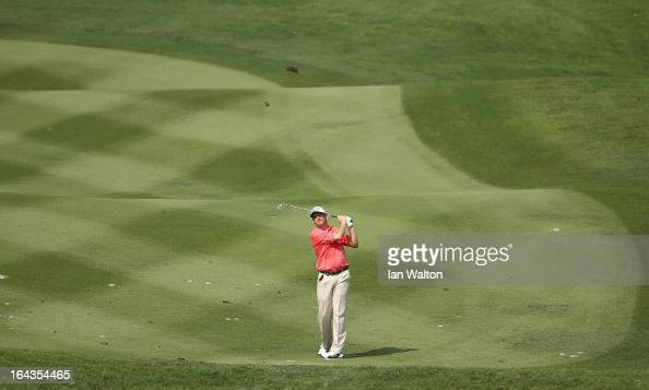Peter Lawrie of Ireland in action during the second round of the Maybank Malaysian Open at Kuala Lumpur Golf Country Club on March 23 2013 in Kuala...
