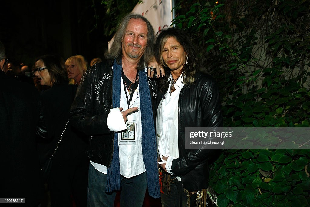 Peter Leinheiser and <a gi-track='captionPersonalityLinkClicked' href=/galleries/search?phrase=Steven+Tyler+-+Musician&family=editorial&specificpeople=202080 ng-click='$event.stopPropagation()'>Steven Tyler</a> attend the Sunset Marquis Hotel 50th Anniversary Birthday Bash at Sunset Marquis Hotel & Villas on November 16, 2013 in West Hollywood, California.