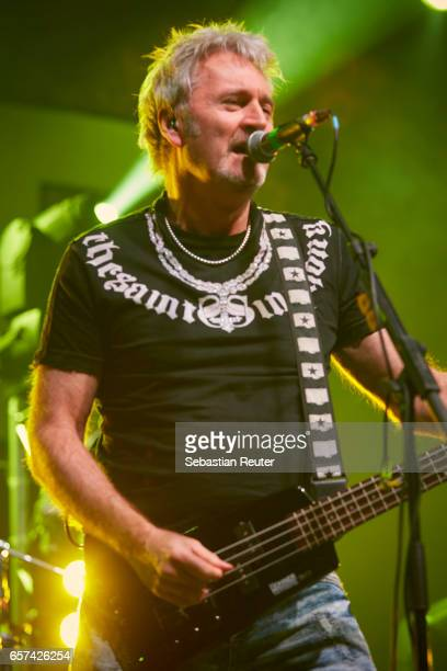 Peter Lincoln of Sweet performs at Columbiahalle on March 24 2017 in Berlin Germany