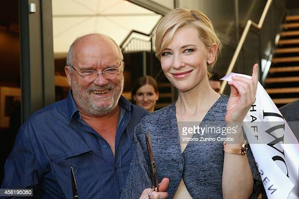 Peter Lindbergh and Cate Blanchett attend the IWC Photo Exhibition Opening during Day 3 of Zurich Film Festival 2014 on September 27 2014 in Zurich...
