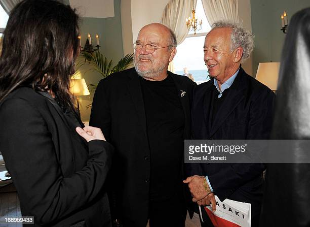 Peter Lindbergh and Gilles Bensimon attend the annual Finch's Quarterly Review Filmmakers Dinner hosted by Charles Finch Caroline Scheufele and Nick...