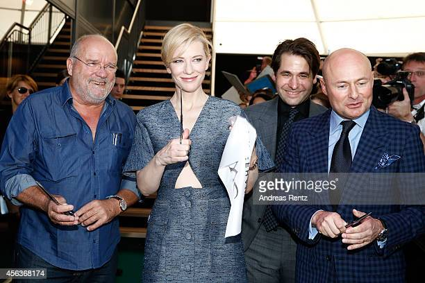 """Peter Lindbergh Cate Blanchett Karl Spoerri and Georges Kern attended the official opening of the """"Timeless Portofino"""" exhibition with photographs by..."""