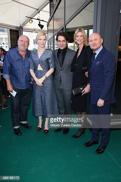 Peter Lindbergh Cate Blanchett Karl Spoerri Nadja Schildknecht and IWC CEO Georges Kern attend the IWC Photo Exhibition Opening during Day 3 of...