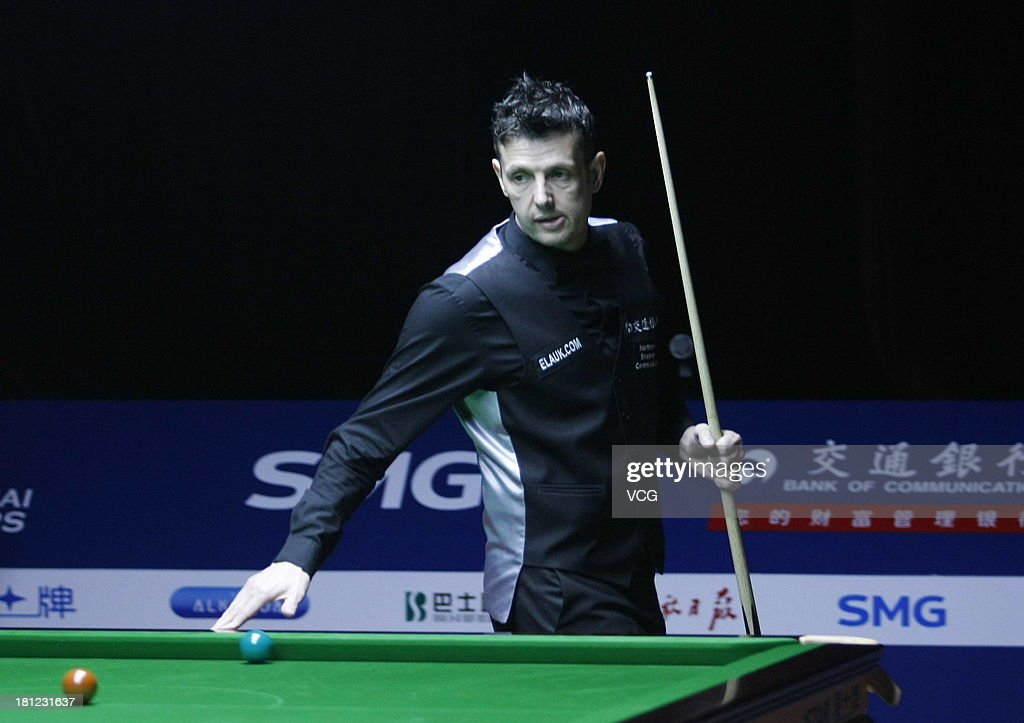 Peter Lines of England looks on in the match against Xiao Guodong of China on day four of the 2013 World Snooker Shanghai Master at Shanghai Grand Stage on September 19, 2013 in Shanghai, China.