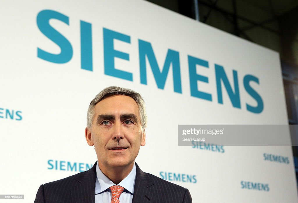 <a gi-track='captionPersonalityLinkClicked' href=/galleries/search?phrase=Peter+Loescher&family=editorial&specificpeople=4296846 ng-click='$event.stopPropagation()'>Peter Loescher</a>, President and Chief Executive Officer of Siemens, attends the Siemens annual press conference on November 8, 2012 in Berlin, Germany. Siemens announced it plans to save EUR 6 billion by 2014 in order to strengthen its competiveness.