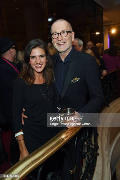 Peter Lohmeyer and guest attend the Medienboard BerlinBrandenburg Reception during the 67th Berlinale International Film Festival Berlin at on...