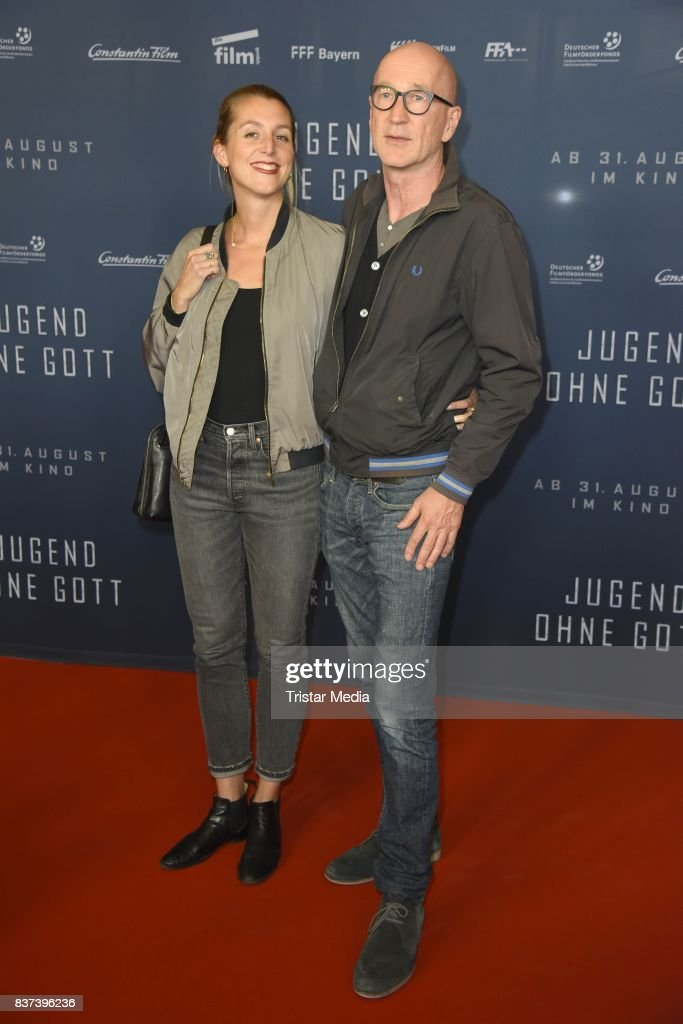 Peter Lohmeyer and his girlfriend Leonie Seifert attend the premiere of 'Jugend ohne Gott' at Zoo Palast on August 22, 2017 in Berlin, Germany.