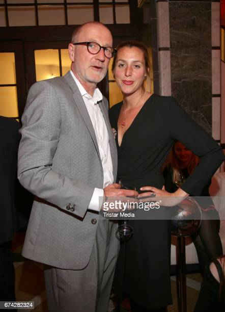 Peter Lohmeyer and his girlfriend Leonie Seifert during the Henri Nannen Award After Show Party on April 27 2017 in Hamburg Germany