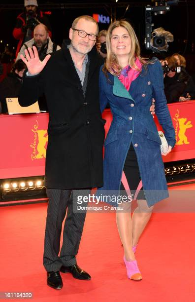 Peter Lohmeyer and Sarah Wiener attend the 'Gold' Premiere during the 63rd Berlinale International Film Festival at Berlinale Palast on February 9...