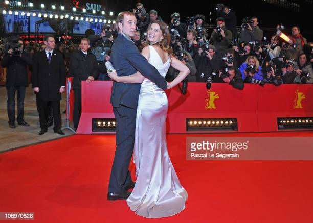 Peter Lohmeyer and Sarah Wiener attend the 'True Grit' Premiere during the opening day of the 61st Berlin International Film Festival at Berlinale...
