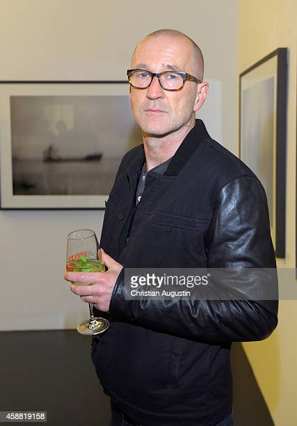 Peter Lohmeyer attends 'In Between' Exhibition Opening at Roedingsmarkt 9 on November 11 2014 in Hamburg Germany