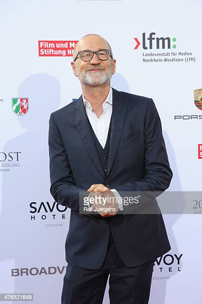 Peter Lohmeyer attends the party after the semifinal round of judging for the 43rd International Emmy Awards at Marienburg on June 9 2015 in Cologne...