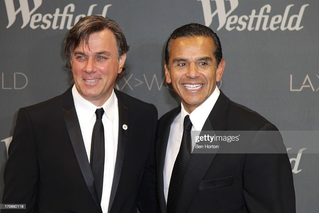 CEO Peter Lowy and mayor <a gi-track='captionPersonalityLinkClicked' href=/galleries/search?phrase=Antonio+Villaraigosa&family=editorial&specificpeople=178925 ng-click='$event.stopPropagation()'>Antonio Villaraigosa</a> attends the Los Angeles World Airports (LAWA) and Westfield present grand opening of the new Tom Bradley International Terminal on June 20, 2013 in Los Angeles, California.
