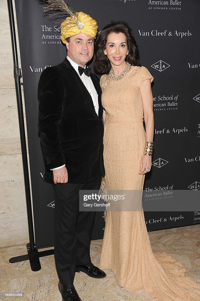 Peter Lyden (L) and Fe Fendi Deborah Roberts attend the 2013 School Of American Ballet Winter Ball: A Night In The Far East at David H. Koch Theater, Lincoln Center on March 11, 2013 in New York City.