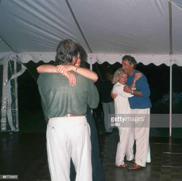 ACCESS*** Peter Madoff Marion Madoff Ruth Madoff and Financier Bernard Madoff during July 1989 in Montauk NY