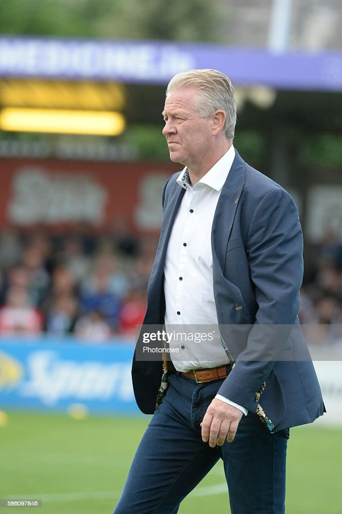 Peter Maes head coach of Krc Genk pictured during UEFA Europa League third qualifying round 2nd Leg match between Cork City FC and KRC Genk on August...