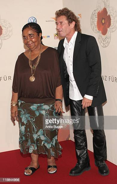 Peter Maffay and Cesaria Evora during Peter Maffay Presents his New Charity CD 'Begegnungen' in Berlin at Berlin Teldex Studios in Berlin Berlin...