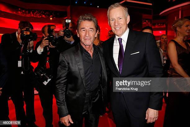Peter Maffay and Johannes B Kerner attend the Ein Herz Fuer Kinder Gala 2014 Party on December 6 2014 in Berlin Germany
