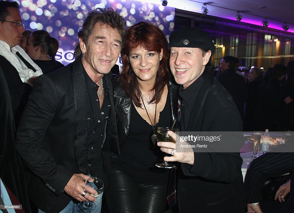 Peter Maffay, Andrea Berg and Klaus Meine of the band Scorpions attend the after show party to the Echo award 2010 at the Messe Berlin on March 4, 2010 in Berlin, Germany.