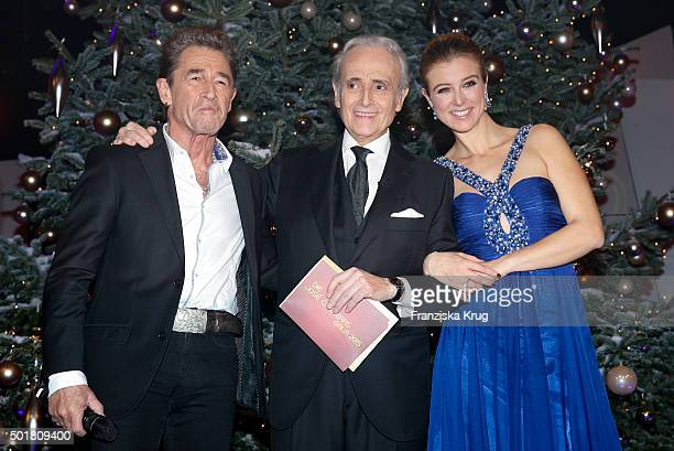Peter Maffay Jose Carreras and Nina Eichinger attend the 21th Annual Jose Carreras Gala at Hotel Estrel on December 17 2015 in Berlin Germany