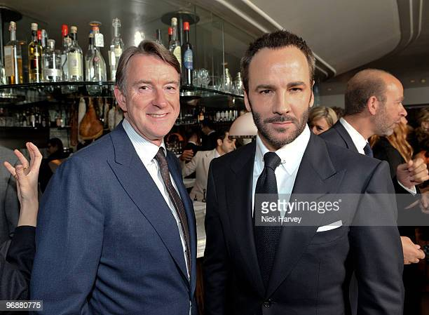 Peter Mandelson and Tom Ford attends private dinner hosted by Vogue Editor Alexandra Shulman and Nick Jones on February 19 2010 in London England