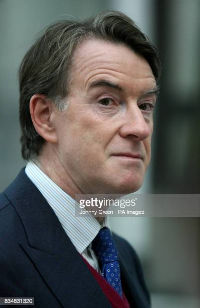 Peter Mandelson arrives at the Department for Business Enterprise and Regulatory Reform in Westminster central London as he returns to the cabinet as...
