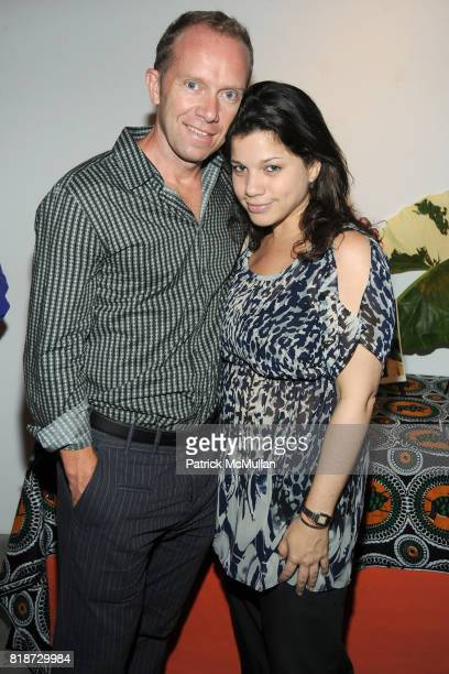 Peter Mandeno and Rachel Goldstein attend KAGENO Summer Cocktail Party at Max Lang Gallery at Max Lang Gallery on June 22 2010 in New York City