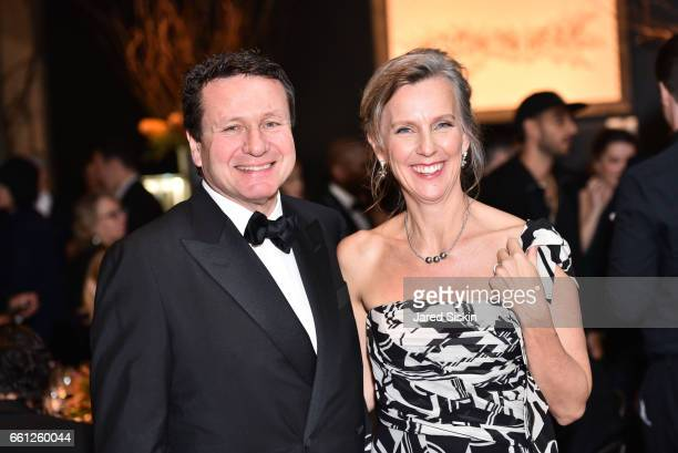 Peter Mann and Bonnie Mann attend the First Annual Medair Gala at Stephan Weiss Studio on March 30 2017 in New York City