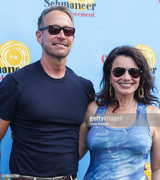 Peter Marc Jacobson and Fran Drescher arrive to the Fran Drescher And Friends 2015 NYC Gay Pride Kick Off And Father's Day Celebration at Pier 40 on...