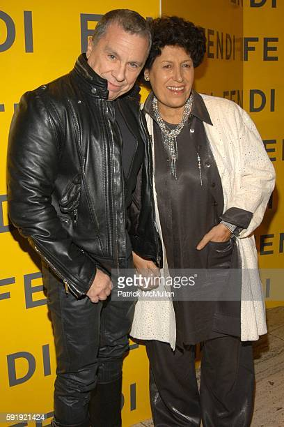 Peter Marino and Carla Fendi attend FENDI 80th ANNIVERSARY All Hallow's Eve Party hosted by KARL LAGERFELD at 25 Broadway on October 29 2005 in New...