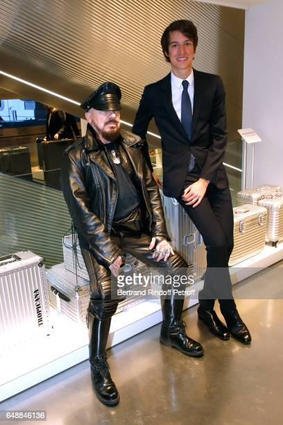 Peter Marino and CEO of Rimowa Alexandre Arnault attend the Opening of the Boutique Rimowa 73 Rue du Faubourg Saint Honore in Paris on March 6 2017...