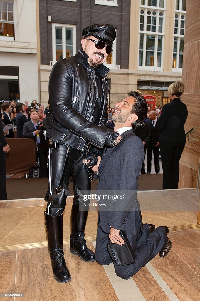 Peter Marino (L) and Marc Jacobs attend the launch of the Louis Vuitton Bond Street Maison on May 25, 2010 in London, England.