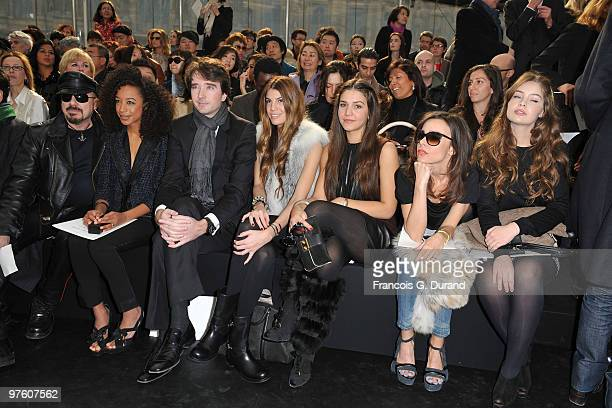 Peter Marino Antoine Arnault guest Margherita Missoni Elodie Bouchez and Marie Ange Casta attend the Louis Vuitton Ready to Wear show as part of the...