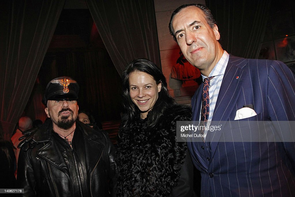 Peter Marino, guest and Jaime de Marichalar attend the Loewe Ready-To-Wear Fall/Winter 2012 show as part of Paris Fashion Week at Universite Paris Descartes on March 3, 2012 in Paris, France.