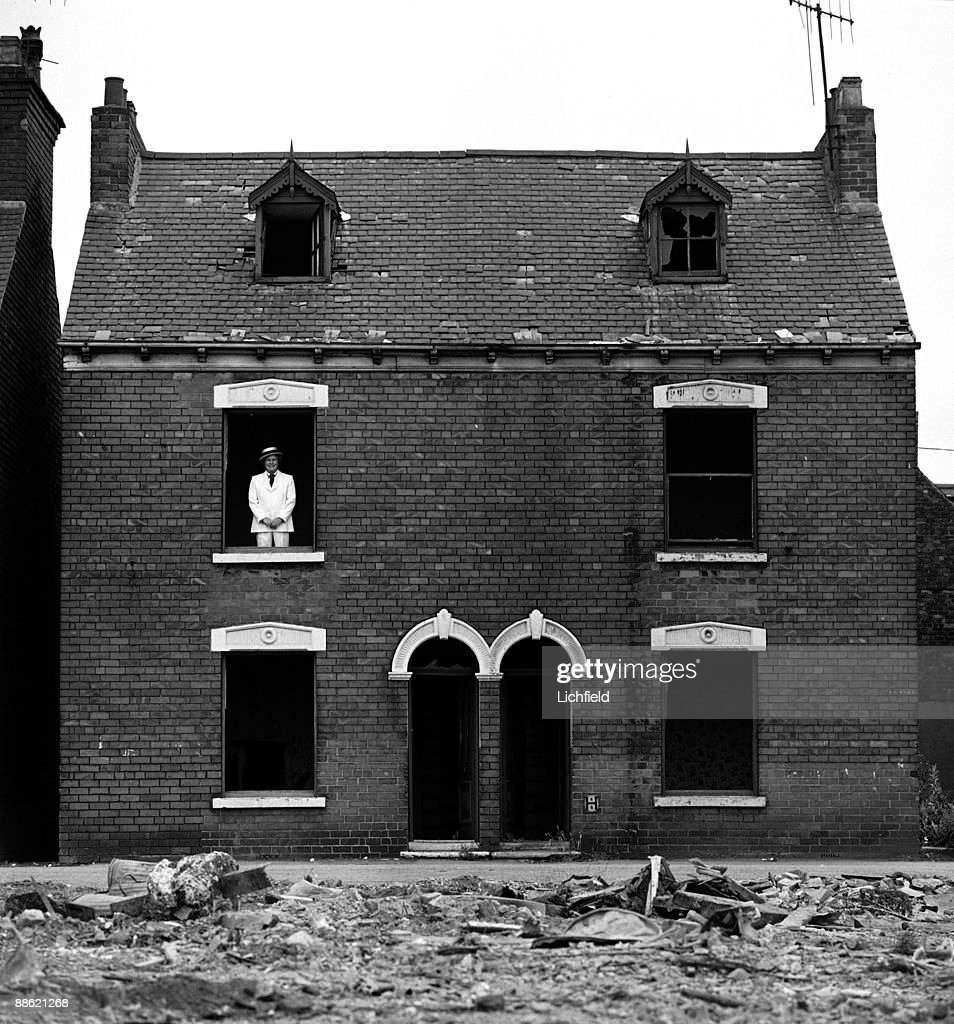 Peter Marsh, Chairman of the advertising agency, ABM, photographed in a derelict house in Balfour Street, Hull, his home town, on 31st July 1975. (Photo by Lichfield/Getty Images).