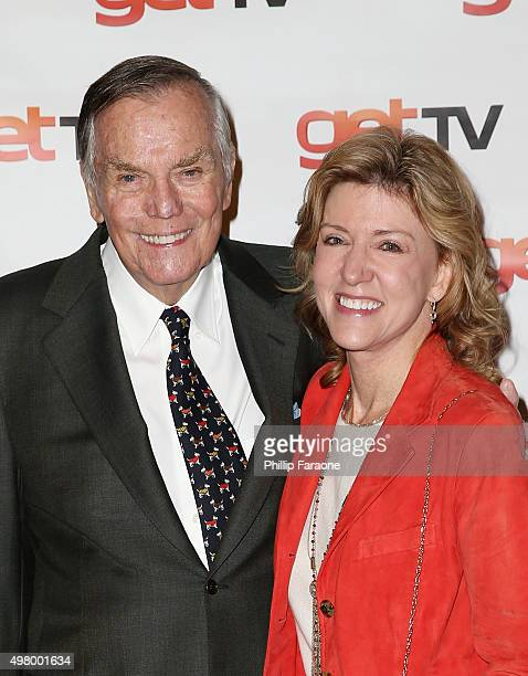Peter Marshall and Wife attend the 50th Anniversary Of The Merv Griffin Show at Sony Pictures Studios on November 19 2015 in Culver City California