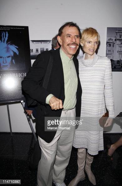 Peter Max and guest during 'Andy Warhol A Documentary Film' Private New York Screening at The Museum of Modern Art in New York City New York United...