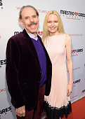 Peter Max and Mary Max attend Maestro Cares 'Changing Lives Building Dreams' Third Annual Gala at Cipriani Wall Street on February 16 2016 in New...