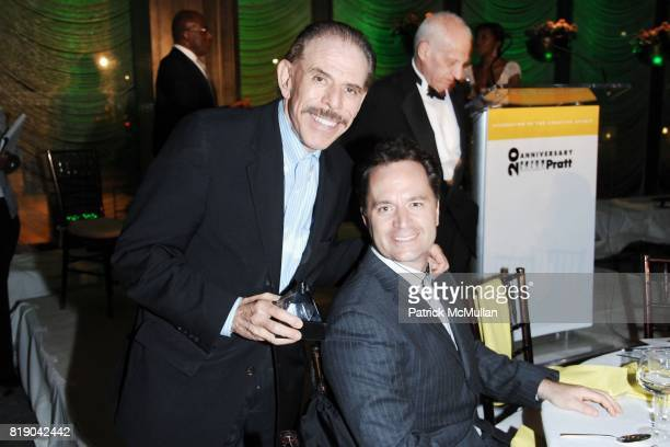 Peter Max and Paul Durante attend PRATT'S 20th Anniversary of Black Alumni 'A Celebration of the Creative Spirit' at The Four Seasons Restaurant on...