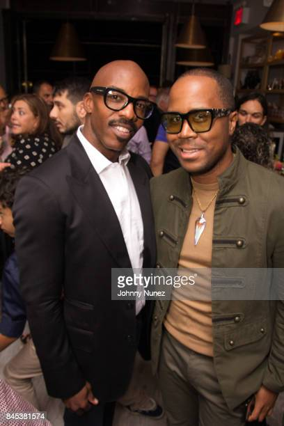 Peter McMath and Antoine Von Boozier attend the Casita Opening Party on September 8 2017 in New York City