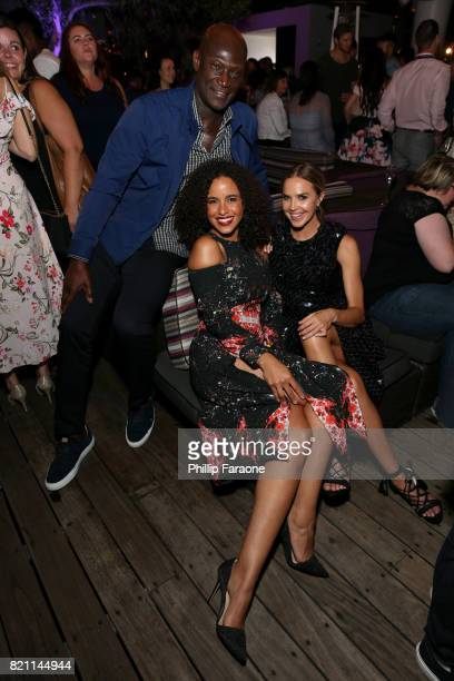 Peter Mensah Parisa FitzHenley and Arielle Kebbel at Entertainment Weekly's annual ComicCon party in celebration of ComicCon 2017 at Float at Hard...