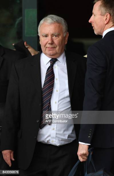 Peter Metcalf the solicitor who acted for South Yorkshire Police following the Hillsborough disaster leaves court in Preston on September 6 2017 Five...