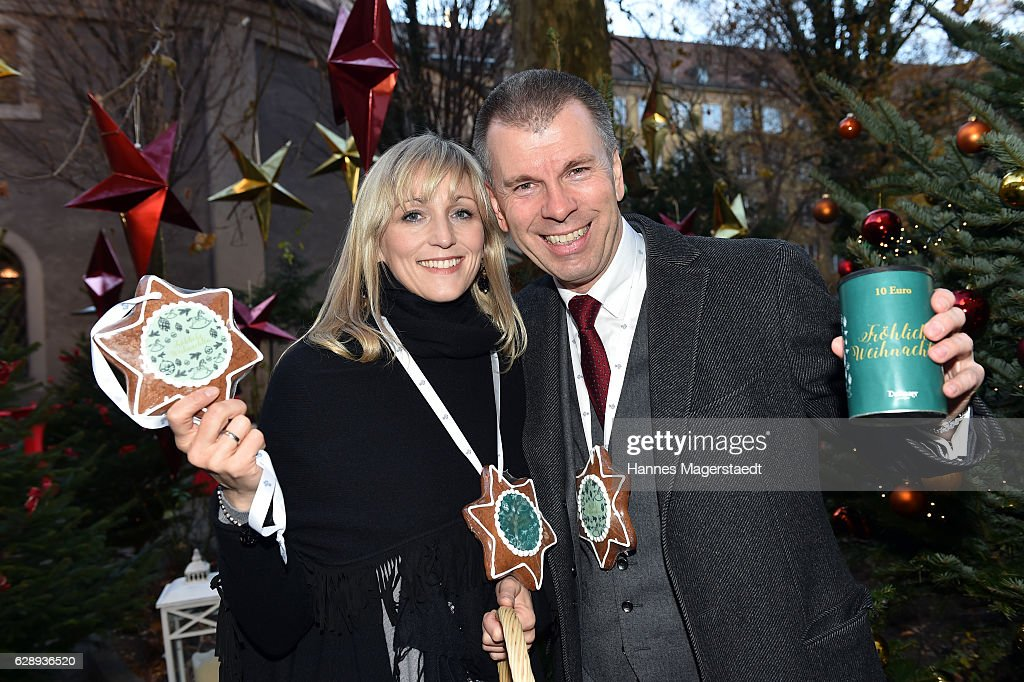 Peter Mey, BMW Muenchen, and Candy Pomp during the 21th BMW advent charity concert at Jesuitenkirche St. Michael on December 10, 2016 in Munich, Germany.