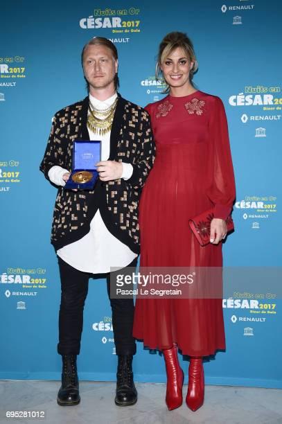 Peter Modestij and Sveva Alviti attend 'Les Nuits en Or 2017' Dinner Gala on June 12 2017 in Paris France