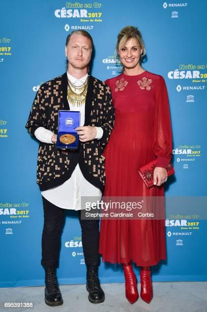 Peter Modestij and Sveva Alviti attend 'Les Nuits en Or 2017' Dinner Gala at Unesco on June 12 2017 in Paris France
