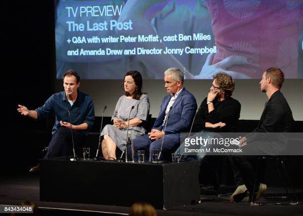 Peter Moffat Amanda Drew Ben Miles and Jonny Campbell during QA after the preview of BBC One Drama 'The Last Post' at BFI Southbank on September 6...