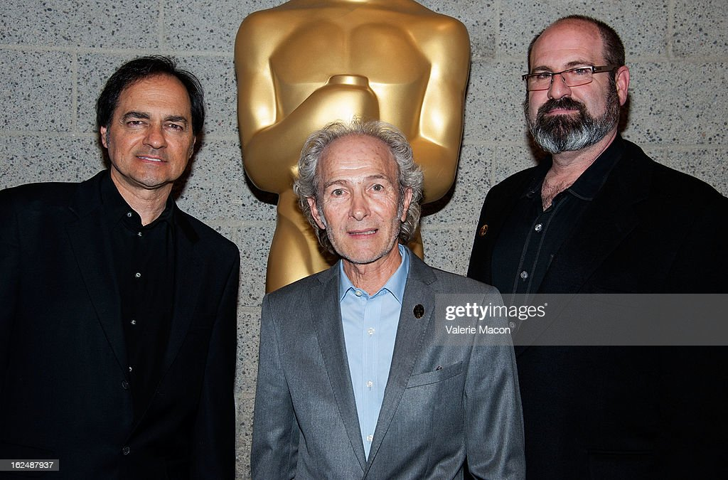 Peter Montagna, Martin Samuel and Howard Berger attend The Academy Of Motion Picture Arts And Sciences Presents Oscar Celebrates: Makeup And Hairstyling at the Academy of Motion Picture Arts and Sciences on February 23, 2013 in Beverly Hills, California.