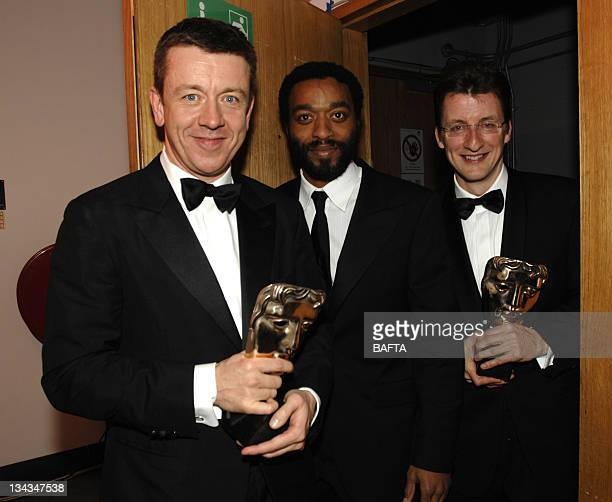 Peter Morgan and Jeremy Brock winners of the Best Adapted Screenplay award for 'The Last King of Scootland' and Chiwitel Ejiofor