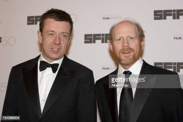 Peter Morgan and Ron Howard during 50th Annual San Francisco International Film Festival Film Society Awards Night at Westin St Francis Hotel in San...