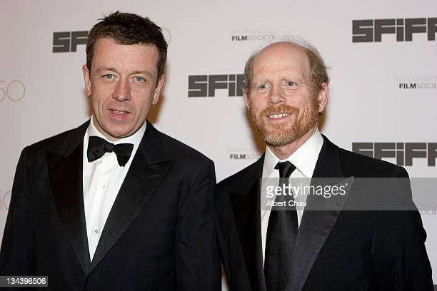 Peter Morgan and Ron Howard during 50th Annual San Francisco International Film Festival Film Society Awards Night at Westin St Francis Hotel in San...
